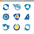 Vector icons: 3d set for business, transport, logistics - Stock Vector