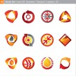 Vector icons: 3d set for business, transport, logistics, oil — Stock Vector