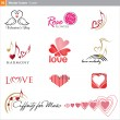 Vector icons: love — Stock Vector #4749499