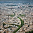 Arc de Triomphe and Paris panorama - Stock Photo