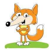 Puppy fox — Stock Vector
