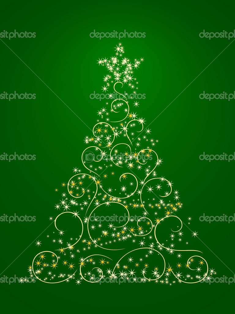 Xmas tree. Illustration in vector — Stock Vector #3966519
