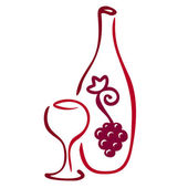 Stylized wine icon — Stock Vector