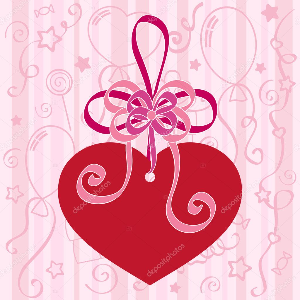 Festive background with heart. Vector — Stock Vector #4364154