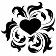 Ornate heart 2 — Stockvectorbeeld