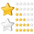 Rating stars for web-2 - Stock Vector