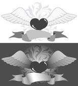 Heart with wings — Stock Vector