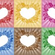 Hearts - frames for text - Stock Vector