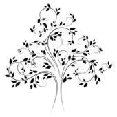 Vector tree 4 (black) — Stock Vector