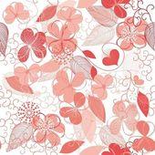 цветочные повторения — Cтоковый вектор