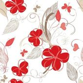 Floral repetition — Stock Vector