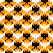 Royalty-Free Stock Imagen vectorial: Halloween bat seamless.