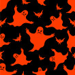 Royalty-Free Stock Vector Image: Halloween seamless pattern.