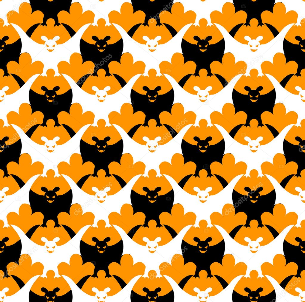 Halloween bat seamless.Vector background. — Stock Vector #3965888