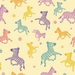 The cartoon zebra seamless. — Stock Vector