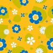 Royalty-Free Stock Vector Image: Summer flower seamless pattern.