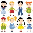 Cartoon children set. - Stock Vector