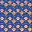Royalty-Free Stock Vector Image: Seamless pattern sunflowers.