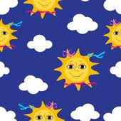 Sun seamless pattern. — Stock Vector