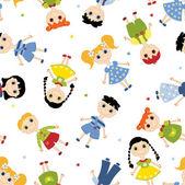 Seamless pattern children. — Stock Vector
