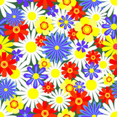 Seamless pattern bright flowers. — Stock Vector