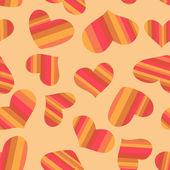 Бесшовная текстура полосатой сердца. — Cтоковый вектор