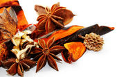 Spa, Scented potpourri on white background — Stock Photo