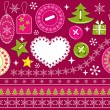 Royalty-Free Stock Vector Image: Christmas collection for scrapbook.