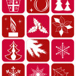 Set winter icons. — Stock Vector