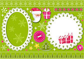 Christmas collection for scrapbook. — Stock Vector