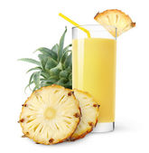 Pineapple juice — Stock Photo