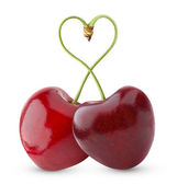Heart-shaped sweet cherry — Stock Photo