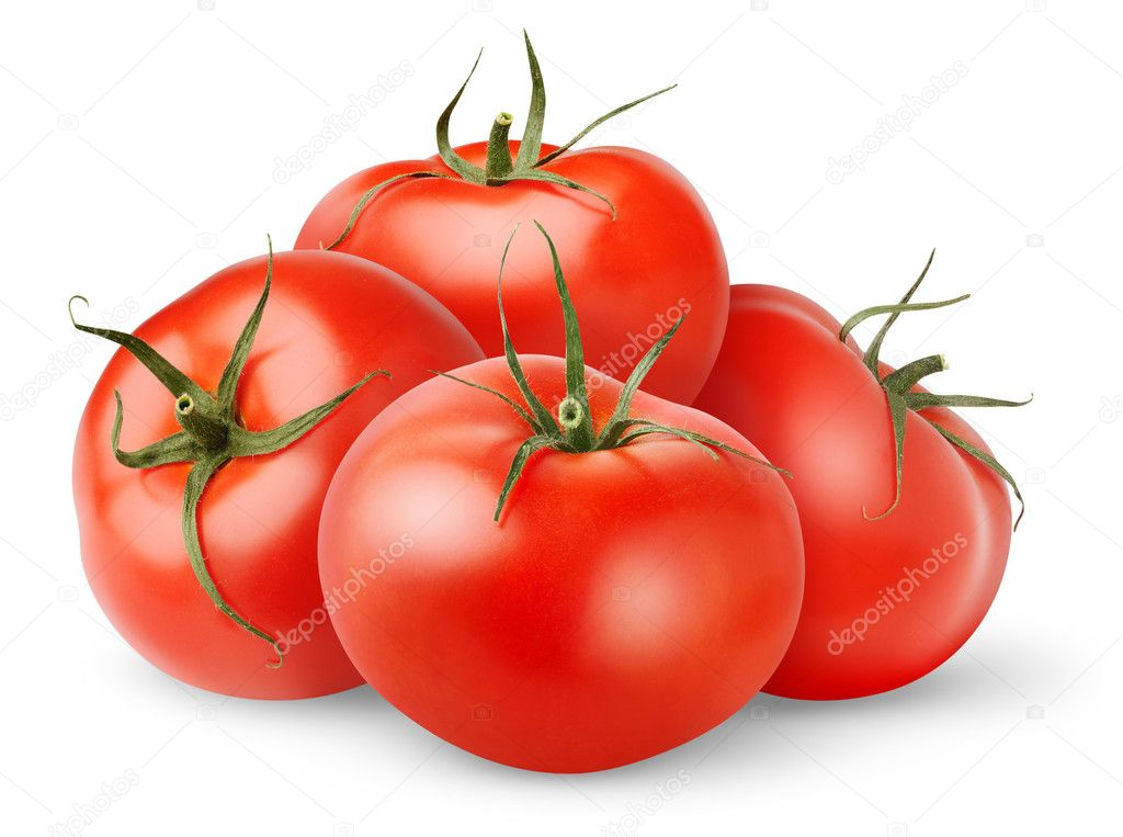 Fresh tomatoes isolated on white — Stock Photo #4614418