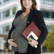 Pregnant business woman — Photo