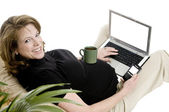 Pregnant business woman — Stockfoto