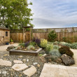 Stock Photo: Landscaped yard