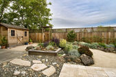 Landscaped yard — Stock Photo