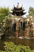 China. Waterfalls and ancient pagodas — Stock Photo