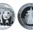 Chinese commemorative silver coin — Stock Photo #4806343