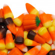 Candy Corn and Pumpkins - Stock Photo