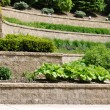 Stock Photo: Tiered Retaining Wall
