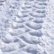 Tire Tracks in the Snow — Stock Photo
