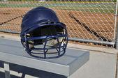 Blue Baseball Helmet — Stock Photo