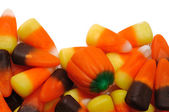 Candy Corn and Pumpkins — Stock Photo