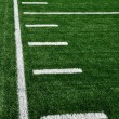 Sideline on American Football Field - Stock Photo