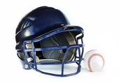 Helmet and Baseball — Stock Photo