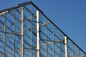 Roof of Greenhouse Against Blue Sky — Stock Photo