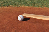 Baseball on the Pitcher's Mound — Stock Photo