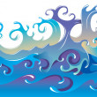 Sea waves background - Stock Photo