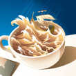 A storm in a teacup - Stock Photo